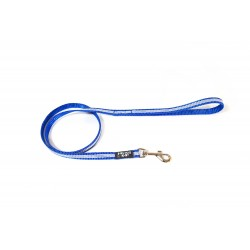 IDC® - Tubular Webbing Leash with Handle - 1 m - 14 mm Bleu