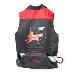 K-9® Unit vest - Black/Red Size XL