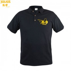 K-9® Unit T-Shirt for men with polo neck - Black